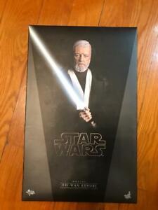 USED Hot Toys MMS283 Star Wars ep4. New Hope Obi-Wan Kenobi Alec Guinness Figure