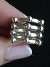 Sterling Silver 925 Mexico🌵 Abstract 4 Row Ring~ Sz7
