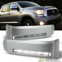 For Silver 2007-2013 Tundra Headlights Bumper DRL LED Running Lights Lamps Xsp-X