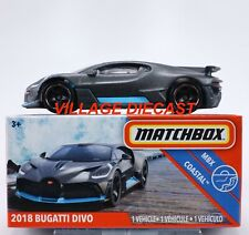 2020 Matchbox Power Grabs #46 2018 Bugatti Divo TITANIUM LIQUID SILVER / MIB
