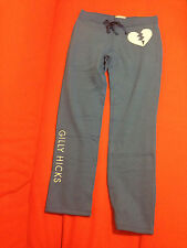 Gilly Hicks Yoga Pants Sweatpants Women Sz L Skinny Fit Blue Cotton String New
