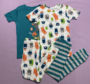 Just One You by Carter's Toddler Boys' 4pc Monster Pajama Set Green Size 5T