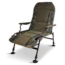 Abode® Urban Camo Carp Fishing Camping Lazy Armchair Recliner Chair