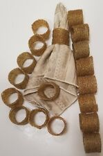 Handmade Gold Round Mesh Napkin Rings Holder for Dinning Table Parties Lot of 18