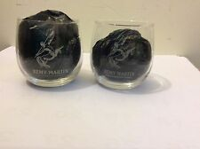 1 lot 2 REMY MARTIN Crystal Clear GLASS / TUMBLER Fine Champagne Cognac