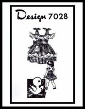 Alice Brooks 7028 Ruffled Dress Frock Pattern BABY GIRL Child ~sz 2~ Mail Order