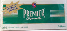 Premier Supermatic 100's Menthol Cigarette Filter Tubes 1 Box of 250 - 3133