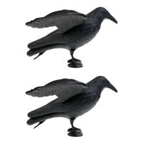 Full Body Crow Raven Hunting Decoy Scarer Hunter Greenhand Gear - Pack of 2