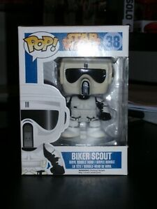 Funko Vinyl Pop  Star Wars Biker Scout  #38   Brand new