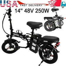 14'' 48V 250W Folding Electric Bike Bicycle City Ebike For Adults And Teenagers