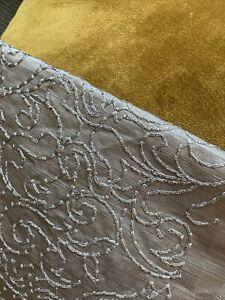1.20 Mtr PRESTIGIOUS TEXTILES Asteria Hera Embroidered Dark SILVER FABRIC £57 Pm