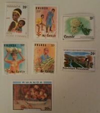 Rwanda Stamps 1980-1993 7 Mint Issues From The Heart Of Africa MNH