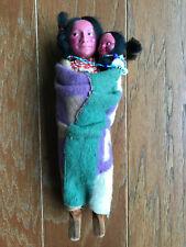"11"" Old Vintage Antique Squaw Papoose Indian Skookum Ethnic Cultural doll dolls"