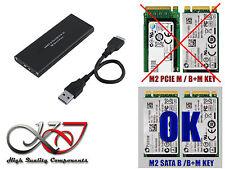 Caja aluminio - Para M2 Sata vers USB3 - M.2 2242 2260 et 2280