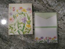 Vtg American Greetings Stationery Set SEALED floral 1982