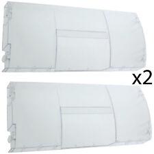 BEKO Genuine Fridge Freezer Basket Drawer Flap Front Cover Panel Handle x 2