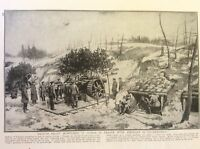 m17c5 ephemera ww1 picture british soldiers howitzers in france western front