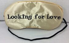 Mud Pie Embroidered Women's Gold Eye Sleep Mask Stocking Stuffer Wedding NWT