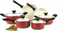 Brand New 10-Piece Nonstick Ceramic Coating Cookware Set in Red or Green