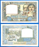 France 20 Francs 1941 17 July Serie F Science & Labor Europe Frcs Free Ship