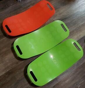 Simply FIT Balance Board As Seen on TV Lot of 3 Green/Orange Workout w/ A Twist