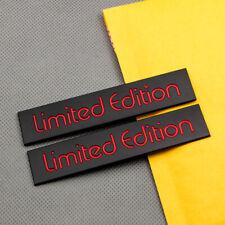2Pcs Black & Red Metal Side Door Limited Edition Badge Fender Trunk Logo Emblem