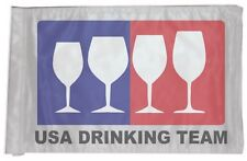 ATV, UTV, Motorcycle, 4x4 Safety Whip Flag, Wine Drinking Team