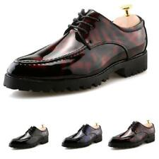 Mens Dress Formal Business Leisure Shoes Pointy Toe Nightlcub Party Lace up 44 L