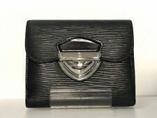 Auth LOUIS VUITTON Portefeuille Joey M66582 Noir Epi SR0049 Wallet (three-fold)
