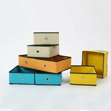 US 8 Pack Foldable Storage Boxes Cube Basket Drawers Organizer Beige Durable