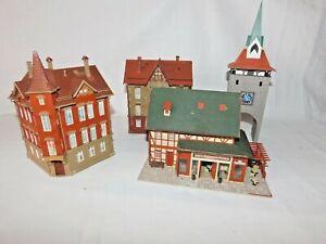 Konvolut von 4 Stück Schöne Stadthäuser/Fachwerkhaus/Pizza in Spur H0 - Top (5)