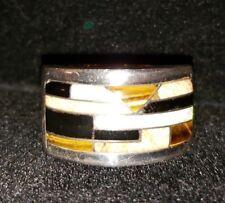 White Rock collection   Sterling silver Tiger Eye Men Sz 12