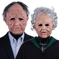 Halloween Grandparents Old People Mask Cosplay Realistic Men Women Latex Masks