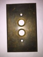 Antique Brass Push Button Wall Light Switch Plate Cover (Multiple Available)