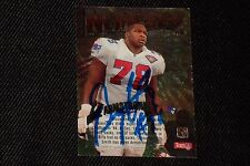 BRUCE ARMSTRONG 1995 TSC NEMESES SIGNED AUTOGRAPHED CARD #N9 PATRIOTS
