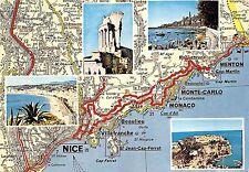 BR13119 Cote D Azur les trios cornices map cartes geographiques  france