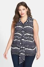 Nwt Vince Camuto Tie Neck Blouse Sz 1X (Plus Size) New Top