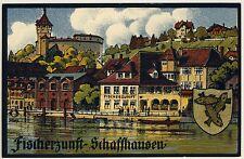 Schweiz SCHAFFHAUSEN SH Fischerzunft * Künstler-AK um 1920 Lithografie