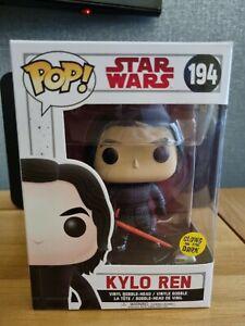 Kylo Ren, Glow in the dark, Star Wars, Funko POP! 194, vinyl, toy, new in box