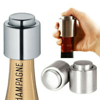 Stainless Steel Wine Bottle Stopper Reusable Vacuum Sealed Metal Cap Champagne