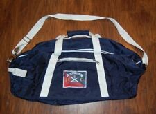 Vintage Nautica Sailing Mountaineering Races Travel Duffle Navy Blue Gym Bag