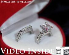 Sterling Silver Diamond Engagement & Band Ring Sets