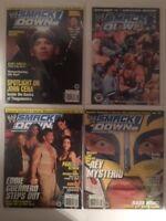 Lot - 4 WWE SmackDown! Magazine 2003 2004 Holiday Jan Feb Cena Guerrero Mysterio