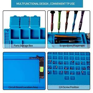 Soldering Matt Phone Repair Mat Maintenance Station Magnetic Heat Insulation UK