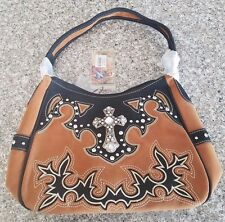 Suede Montana West Purse New W/Tags TAN SWC-8291-BR