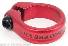 "SHADOW CONSPIRACY ALFRED BMX BIKE BICYCLE SEAT POST CLAMP 1 1/8"" SUBROSA RED NEW"