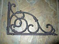 Cast Iron Set/2 Large Vine Bracket Brace Home Wall Shelf Table Yard Garden Decor