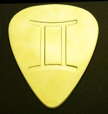 Zodiac - Gemini - Solid Brass Guitar Pick, Acoustic, Electric, Bass