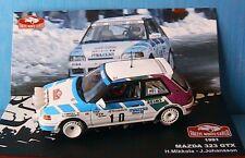MAZDA 323 GTX #10 RALLYE MONTE CARLO 1991 MIKKOLA JOHANSSON IXO 1/43 JAPAN JAPON