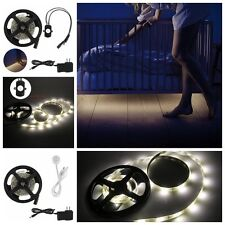 45 LED Night Bed Light Motion Activated Body IR Sensor Dimmable Strip Light Lamp